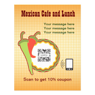 Restaurante do mexicano do modelo do insecto panfletos personalizados