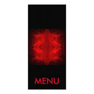 Restaurante preto vermelho do menu 10.16 x 22.86cm panfleto