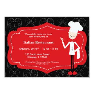 Restaurante superior do cozinheiro chefe convite 12.7 x 17.78cm