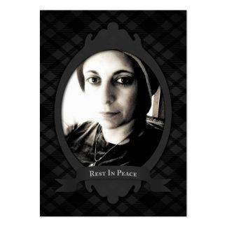 resto em anúncios do serviço fúnebre da paz cartão de visita grande