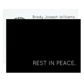 resto no cartão do funeral da paz