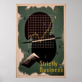 Restrita poster retro de WPA do vintage do negócio