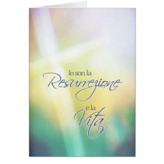 Resurrezione do Io Son La, páscoa religiosa Cartão Comemorativo
