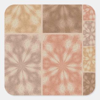 Retalhos aciganados cor-de-rosa adesivos quadrados