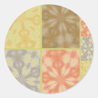 Retalhos boémios coloridos adesivo redondo