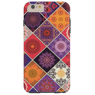 Retalhos boémios coloridos da mandala capa tough para iPhone 6 plus