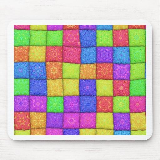 retalhos coloridos mouse pad