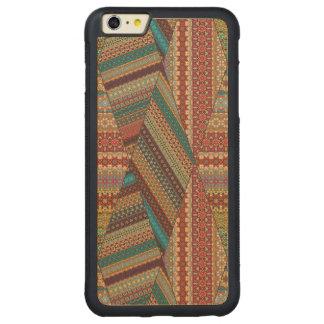 Retalhos do vintage com elementos florais da capa bumper para iPhone 6 plus de bordo, carved
