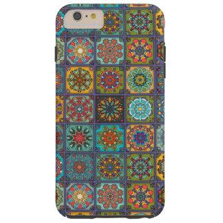Retalhos do vintage com elementos florais da capas iPhone 6 plus tough