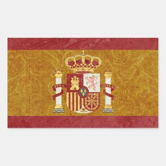 Retângulo das etiquetas da bandeira da espanha