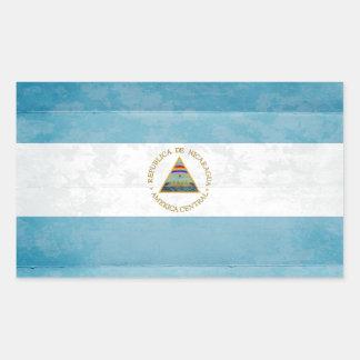 Retângulo das etiquetas da bandeira de Nicarágua