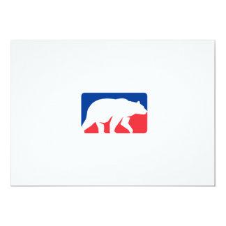 Retângulo de passeio da silhueta do urso de urso convite 12.7 x 17.78cm