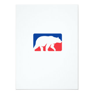 Retângulo de passeio da silhueta do urso de urso convite 13.97 x 19.05cm