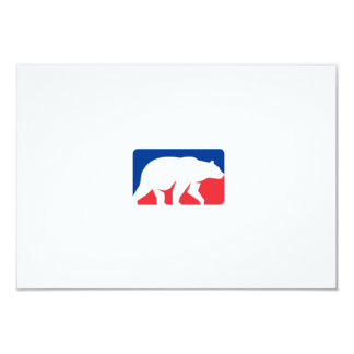 Retângulo de passeio da silhueta do urso de urso convite 8.89 x 12.7cm