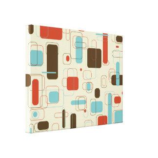 Retângulos retros impressão de canvas esticadas