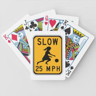 Retarde 25 MPH, sinais de aviso do tráfego, EUA Baralhos De Poker