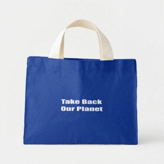 Retire nosso planeta bolsas para compras