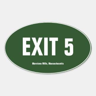 Retire o pára-choque do Oval de Massachusetts de 5 Adesivo Oval