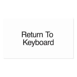 Retorne ao teclado cartão de visita