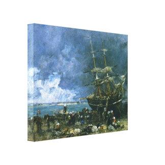 Retorno de Eugene Boudin- do Terre Neuvier Impressão Em Canvas