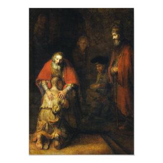 Retorno do filho Prodigal por Rembrandt Convite Personalizados