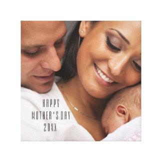 Retrato 2015 feliz da família do dia das mães impressão em tela
