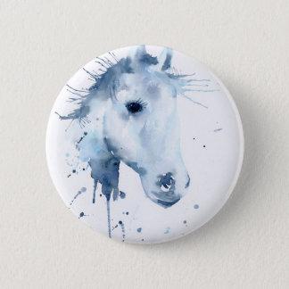 Retrato abstrato do cavalo da aguarela bóton redondo 5.08cm