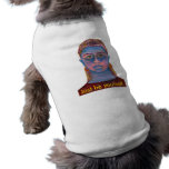 Retrato azul da mulher original camiseta para caes