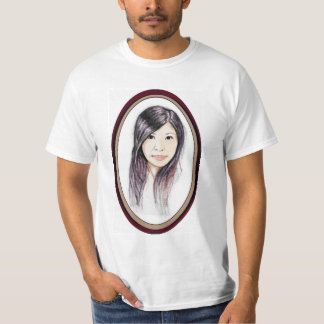 Retrato bonito de uma mulher asiática camiseta