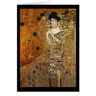 Retrato da Adele Bloch-Bauer de Klimt Cartão Comemorativo