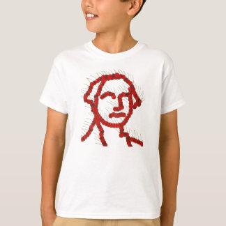 Retrato da cereja de George Washington Camiseta