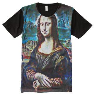 Retrato da cor do fantasma de Mona Lisa Camisetas Com Impressão Frontal Completa
