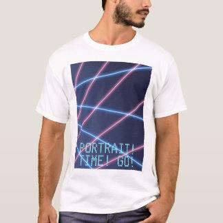 Retrato da escola do raio laser camiseta