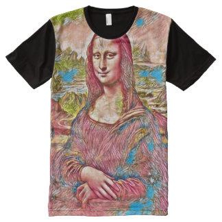Retrato da fantasia de Mona Lisa Camisetas Com Impressão Frontal Completa