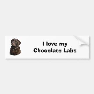 Retrato da foto do cão de Labrador do chocolate Adesivo