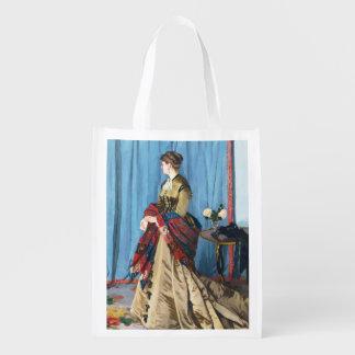 Retrato da senhora Gaudibert Claude Monet Sacola Ecológica Para Supermercado
