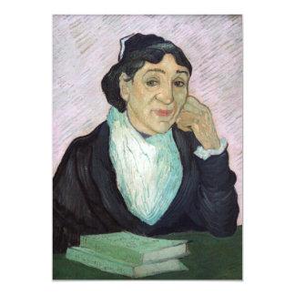 Retrato da senhora Ginoux por Vincent van Gogh Convite 12.7 X 17.78cm