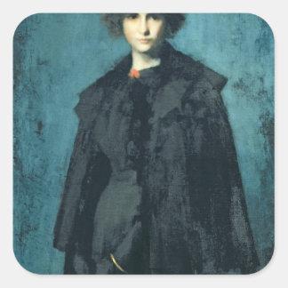 Retrato da senhora Laura Leroux Adesivo Quadrado