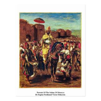 Retrato da sultão de Marrocos Cartão Postal