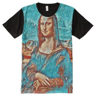 Retrato da versão de Mona Lisa Gogh Camisetas Com Impressão Frontal Completa