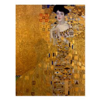 Retrato de Adele Bloch-Bauer por Klimt Cartão Postal