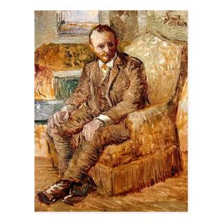 Retrato de Alexander Reid, belas artes de Van Gogh Cartão Postal
