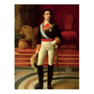 Retrato de Alfonso XII 1876 Cartão Postal