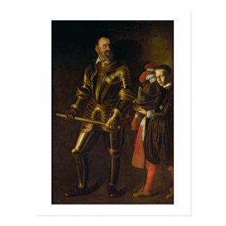 Retrato de Alof de Wignacourt, mestre grande do th Cartão Postal