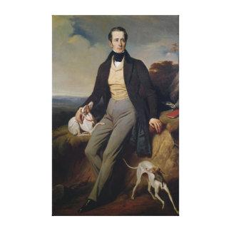 Retrato de Alphonse de Lamartine 1830 Impressão De Canvas Envolvidas
