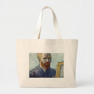 Retrato de auto de Van Gogh Bolsa Tote Grande