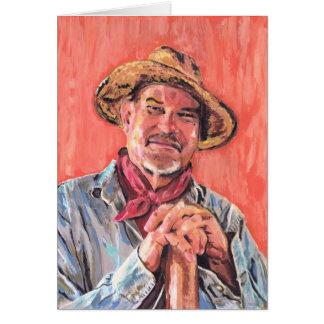 Retrato de auto, homenagem a Vincent Cartão Comemorativo