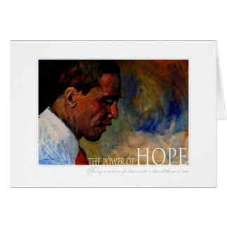 Retrato de Barack Obama Cartão Comemorativo