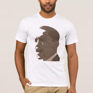 Retrato de Barack Obama na camisa do tom do Sepia
