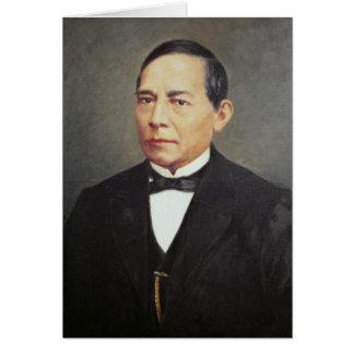 Retrato de Benito Juarez, 1948 Cartão Comemorativo